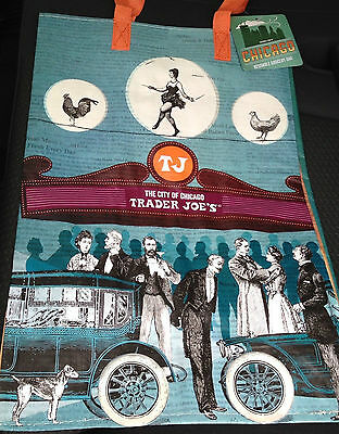 1 Trader Joe's Eco Reusable Grocery Tote Bag Chicago IL