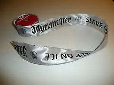 1 Roll  Silver Jagermeister Gift  Ribbon -   Gift , Gift Wrap Jager