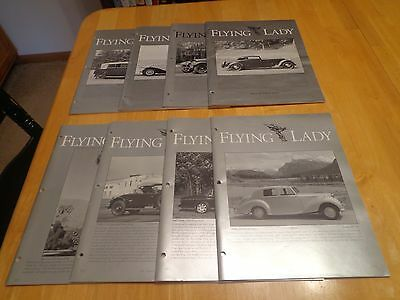8 ISSUES of THE FLYING LADY ROLLS ROYCE OWNERS CLUB  MAGAZINE 1996,97,93.98 & 94