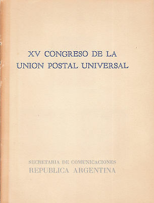 ARGENTINA 1964 UPU VIENNA IMPERF PROOF ESSAY PRESENTATION FOLDER with 6 example