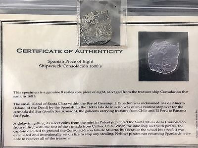 1681  8 REALES Cob Salvaged SHIPWRECKED From CONSOLACION