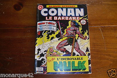 Numéro inédit Conan le barbare 1980 + Hulk  French comic Heritage All in color