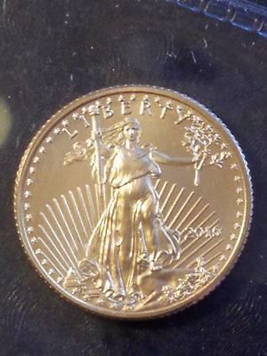 2016 1/10 oz Gold American Eagle $5 Coin BU