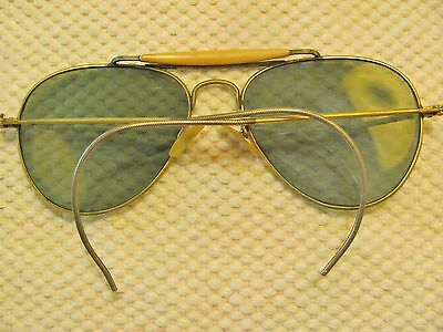 VINTAGE AVIATOR SUNGLASSES WIRE FRAME GREEN LENS BY WILLSON MADE IN USA Glasses