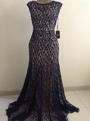 New Formal Dress Adrianna Papell- Size 6 -Navy- Mother of the Bride -30% REDUCED