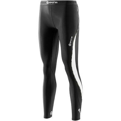 Skins DNAmic Thermal Womens Long Tights (Black/Cloud) + FREE AUSTRALIA DELIVERY