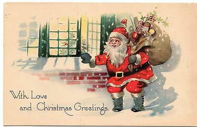 Early 1900's Santa Christmas  Postcard - Selling Lot Of Cards