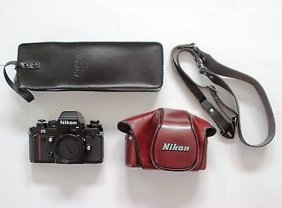 Nikon F3HP 35mm SLR Camera w/ Strap, CF-22 Case, and SB-16 Flash MINT -