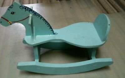 Vintage Hand Made  Painted Wood Rocking  Horse Child's Riding Toy