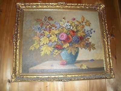 Original Oil on Canvas Painting of Autumn Flowers by Grace O'Neil