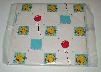 Vintage Purina Cat Food Happy Cat Premium Mail Away Wrapping Paper Gift Wrap