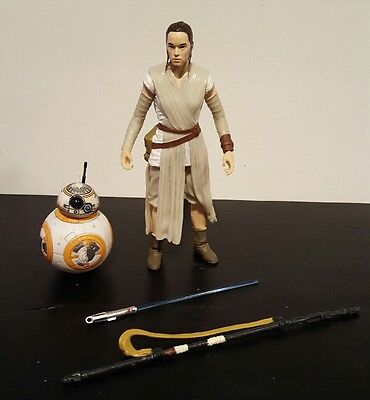 "REY & BB8 w/ Lightsaber Star Wars Black Series 6"" The Force Awakens Figure loose"