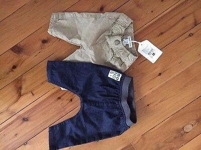 Baby Boys Bonds denim pants and Country Road chino's 0-3 months 000 NEW