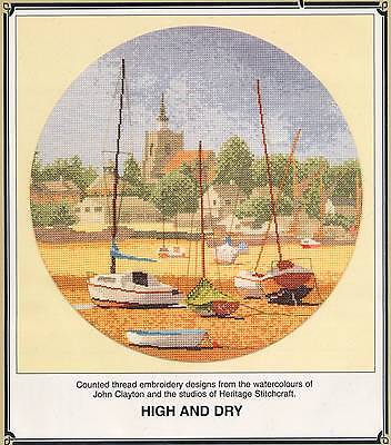 Heritage Stitchcraft HIGH AND DRY Cross Stitch Chart Only by John Clayton~ boats