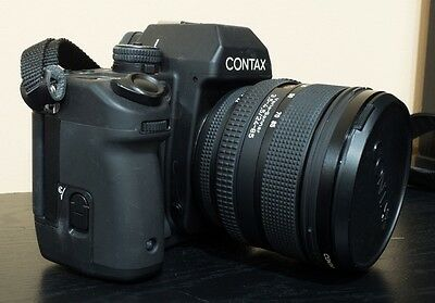 Contax N1 35mm SLR Film Camera with N24-85 AF Lens & Hood.  Excellent+ Condition