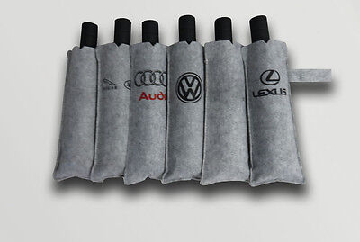 Famous Car Logos Style Black Men's Windproof Anti Sun Compact Folding Umbrella