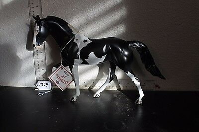 """1374 Peter Stone Tennessee Walking Horse """"JET PROPELLED """" Hang tag  B/W Pinto"""