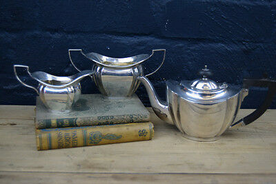Lovely Vintage Silver Plated English Three Piece Tea Set