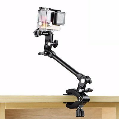 360 Degree Adjustable Music Mount Arm Stand Clip Clamp for GoPro HERO 4 3+ AU