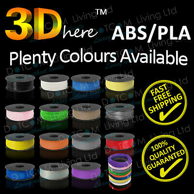 3D Printer Filament ABS/PLA - 1.75mm -1KG - Various Colours Available