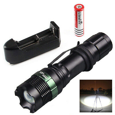 2500LM CREE XM-L T6 LED Flashlight Torch Zoomable Lamp Super Light +Battery NICE