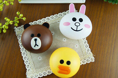 New Cute Line Frineds Bear Pocket Eye Contacts Lens Box Case Holder