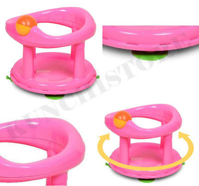 Baby Bath Swivel Seat Pink 360 Degree Support Chair Safety 1st