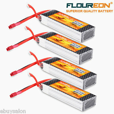 4x 4000mAh 3S 11.1V 25C LiPo Battery Deans for RC Helicopter Airplane Car Truck