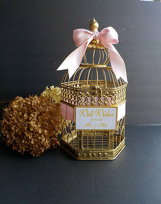 Wedding Wishing Well, Bridal Wishing Well, Bird Cage Card Holder, Shower Cards