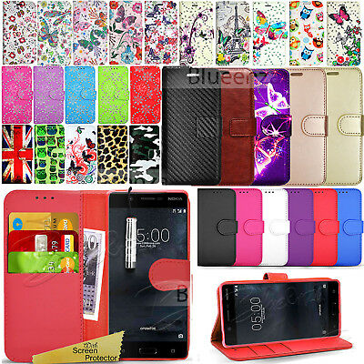 For Nokia 5 -Wallet Leather Case Flip Cover Book Book Stand  + Screen Protector