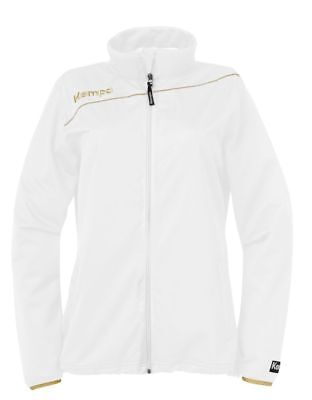 Kempa Womens Ladies Gold Sports Classic Full Zip Jacket Tracksuit Top White ...