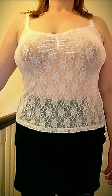 White and blue BHS top size 14/16
