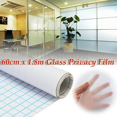 60cmx180cm Frosted Window Film Clear Sand Blast Privacy Frosting Removable Glass