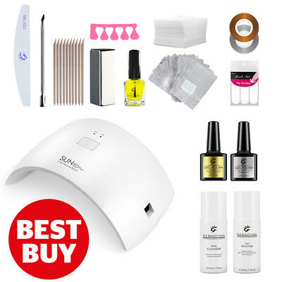 Deluxe IBN UV/LED Nail Gel Polish Starter KIT Set, 36W LED Lamp, Soak Off Gel