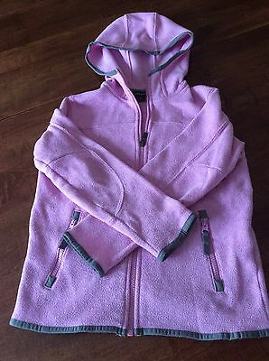 Girls Lands End Hooded Pink Sweater Size 6X - 7
