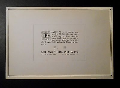 Midland Terra Cotta Original Cover Plate Advertising Architectural Design 1915