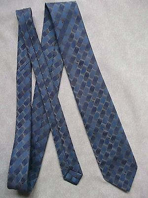 TOOTAL TIE VINTAGE 1980s 1990s MOD CASUAL SHIMMERY BLUE PATTERN RETRO MODERNIST
