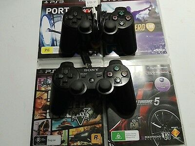 Sony PlayStation 3 (PS3) Controller X 2 Games X 4