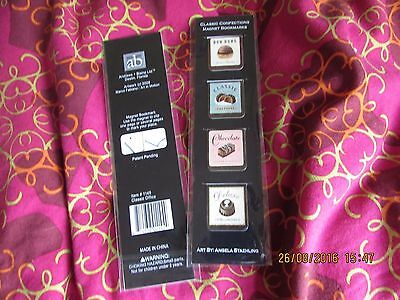 pack of 4 MAGNETIC PAGE MARKER, CONFECTIONARY, book mark, SWEET TREATS