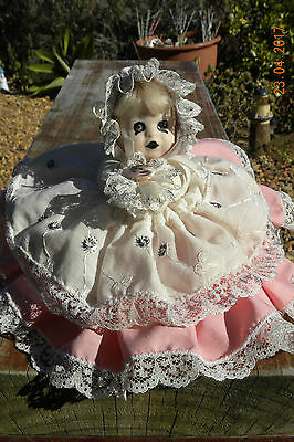 Cute, Reworked Vintage Porcelain Baby Doll, Vampire, Zombie Doll, Gothic Doll