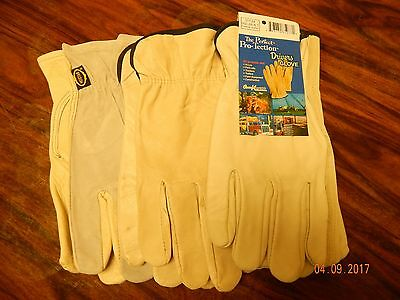 3 pair   Full Quanlity  Leather Work Gloves Men's X-Large Size (CLEARANCE)