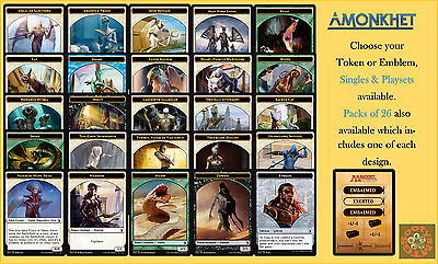 MTG Amonkhet AKH - Choose your Emblem or Token Singles & Playsets Buy 2 save 10%