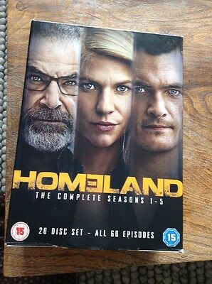 Homeland The Complete Seasons 1-5  Dvd Brand New And Sealed