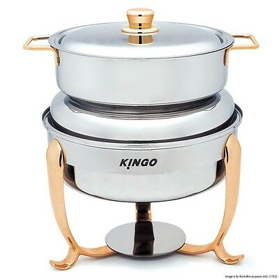 KG2605 Round Soup Station with Gilt Legs and Handles VALUE