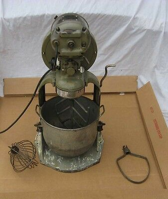 Vintage 3 Speed Hobart 10 Qt Mixer For Country Store Home Or Restaurant