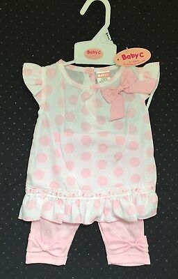 NEW, Baby girls summer outfit, 0-3 months, Baby pink
