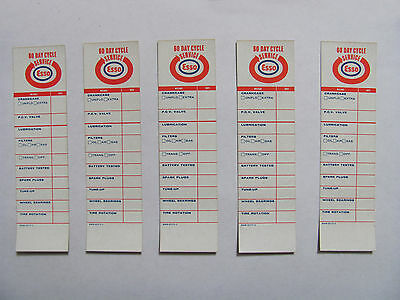 ESSO Oil Change Reminder Decals 50's 60's NOS! Great for Show Cars, Collections