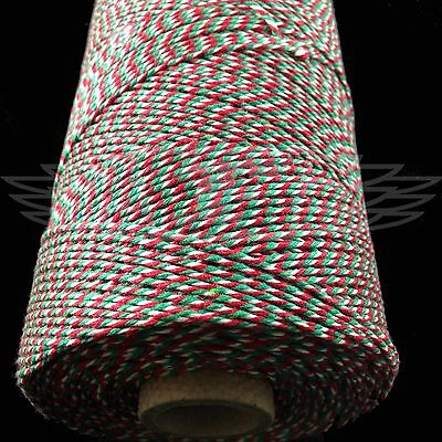 Beautiful Christmas Candy Cane Bakers Twine Red Green White String Cord Butchers