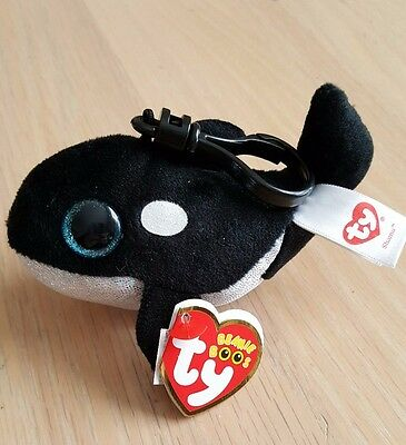 55cf792a78f Ty SEAWORLD EXCLUSIVE Beanie Boo s Key Clip SHAMU Brand NEW MWMT FREE  SHIPPING