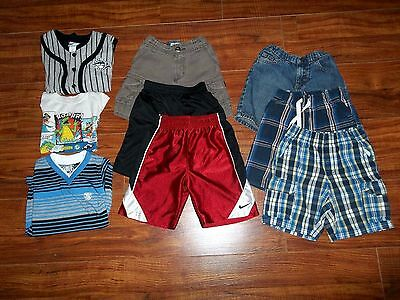 Size 3T Lot Spring Summer Boys Toddler Clothes Shorts Shirts